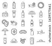 uv sun protection icons set....   Shutterstock .eps vector #1639575661