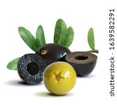 green and black olives low poly.... | Shutterstock .eps vector #1639582291