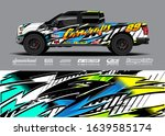 pick up truck decal wrap design ... | Shutterstock .eps vector #1639585174