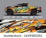pick up truck decal wrap design ... | Shutterstock .eps vector #1639585201