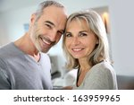 portrait of cheerful senior... | Shutterstock . vector #163959965