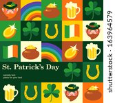 st patrick's day  template card....
