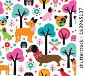 Seamless Kids Fabric Dogs...