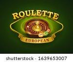 european roulette logo. casino... | Shutterstock .eps vector #1639653007