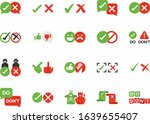 do and don t line icon set....   Shutterstock .eps vector #1639655407
