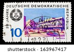gdr  circa 1969  gdr stamp with ... | Shutterstock . vector #163967417