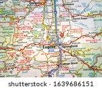usa travel map background...   Shutterstock . vector #1639686151