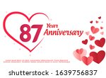 87 years anniversary logo... | Shutterstock .eps vector #1639756837