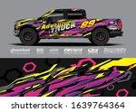truck wrap design vector....   Shutterstock .eps vector #1639764364