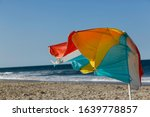 Brightly Colored  Wind Whipped...