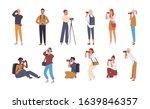 set of various photographers... | Shutterstock .eps vector #1639846357