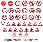 road signs collection | Shutterstock .eps vector #163984691