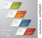 design clean number banners... | Shutterstock .eps vector #163986845