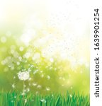 vector spring  green background ... | Shutterstock .eps vector #1639901254