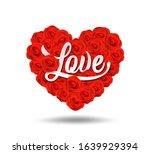 happy valentine's day love... | Shutterstock .eps vector #1639929394