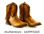 Cowboy Shoes Isolated On A...