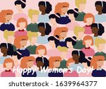 march 8  international women's... | Shutterstock .eps vector #1639964377