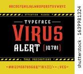 ont virus alert. craft retro... | Shutterstock .eps vector #1639981324