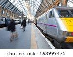 London Train Station Blur...