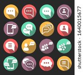 speech bubble icons with shadow....