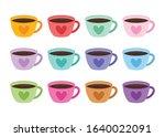 heart coffee mug valentine's... | Shutterstock .eps vector #1640022091