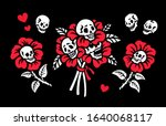 bouquet of flowers with human... | Shutterstock .eps vector #1640068117
