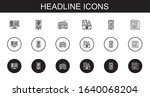 headline icons set. collection...   Shutterstock .eps vector #1640068204