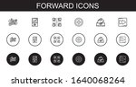 forward icons set. collection... | Shutterstock .eps vector #1640068264