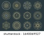 vector set of sacred geometric... | Shutterstock .eps vector #1640069527