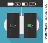 modern black smartphone...