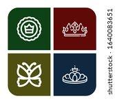 Monarch Icon Set. Collection O...