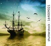 Sailboat Against A Beautiful...