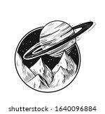 space landscape.galaxy scene.... | Shutterstock .eps vector #1640096884