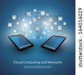 cloud computing and networks  ... | Shutterstock .eps vector #164016029