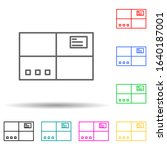 parcel multi color style icon....