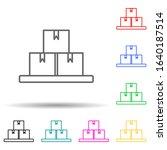 boxes multi color style icon....