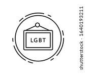 sign  lgbt icon. simple line ...