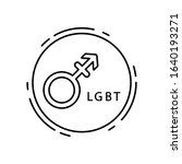 androgyny  lgbt icon. simple...