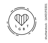 heart  love  lgbt icon. simple...