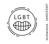 lips  lgbt icon. simple line ...
