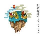 raster world globe illustration ... | Shutterstock . vector #164019425