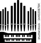 pipe organ music instrument... | Shutterstock .eps vector #1640208784
