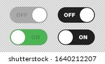 switch on and off toggle vector ...