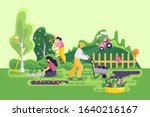 farmers and gardeners in the... | Shutterstock .eps vector #1640216167