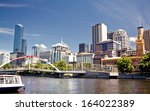 a view of the yarra river ... | Shutterstock . vector #164022389