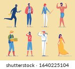 different people  men and women ... | Shutterstock .eps vector #1640225104
