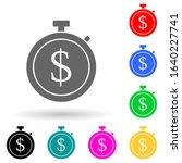stopwatch with money multi...