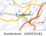Caldwell on a geographical map of UK