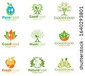 healthy food logo for... | Shutterstock .eps vector #1640293801