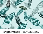 leaves of palm tree seamless... | Shutterstock .eps vector #1640333857